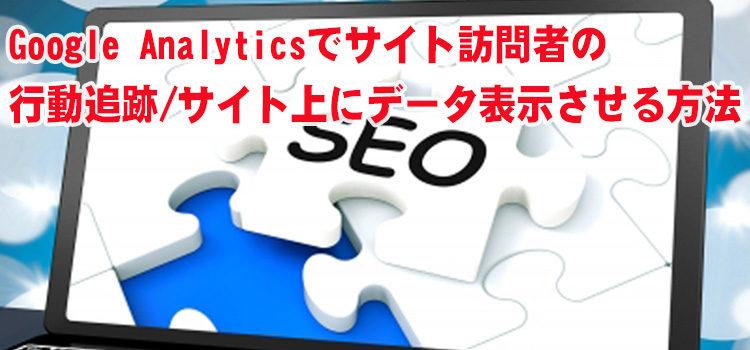 Google Analytics(グーグル アナリティクス)でサイト訪問者の行動追跡・サイト上にデータ表示させる方法